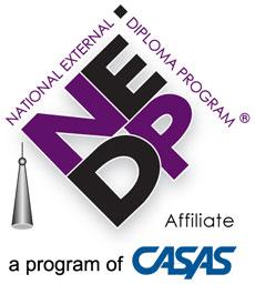 National External Diploma Program Affiliate - A program of CASAS