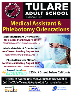 Medical Assistant and Phlebotomy Orientation Flyer