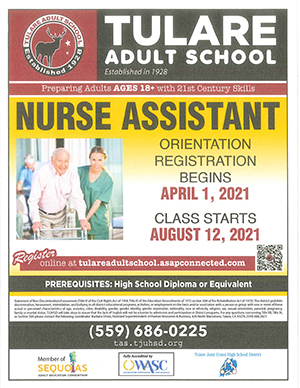 Nurse Assistant Program Flyer