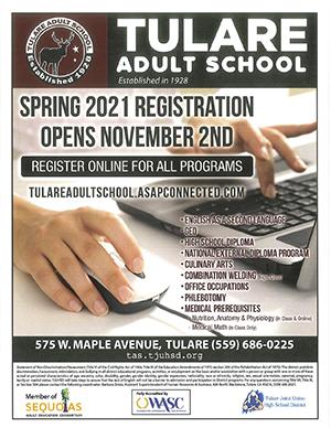 Spring 2021 Registration Flyer