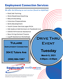 drive thru event flyer