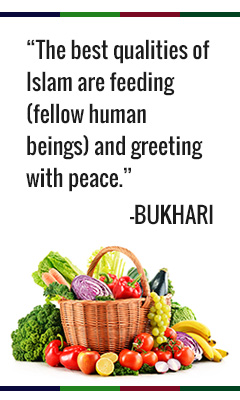 The best qualities of Islam are feeding fellow human beings and greeting with peace. - Bukhari