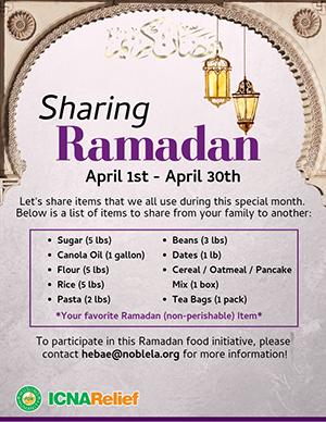 Sharing Ramadan flyer