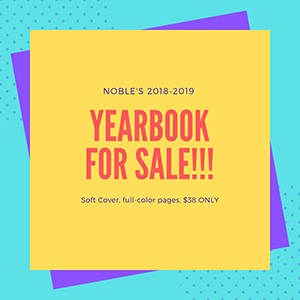 Noble's 2018-2019 Yearbook For Sale! Soft Cover, full-color pages, $38 ONLY