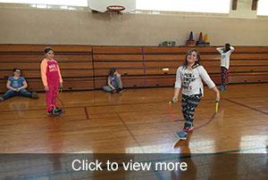 Photos of third grade jump rope lesson