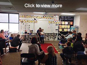 Click to view more photos from first grade red carpet event