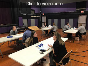 Click to view more. Students and staff participate in mock interviews