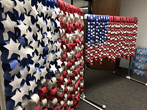 Veteran's Day paper chain flags