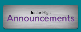 Jr High Announcements