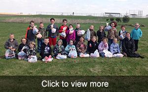 More photos of 1st grade Easter Egg Hunt