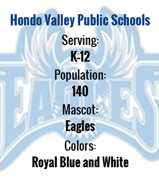 Serving: K-12 Population: 140 Mascot: Eagles Colors: royal blue and white