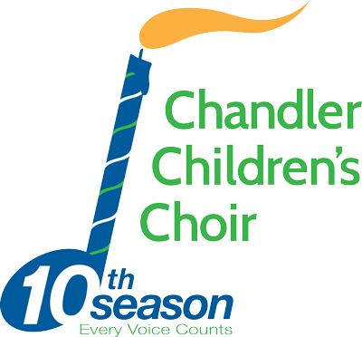 Chandler Children's Choir 10th Season Every Voice Counts Logo