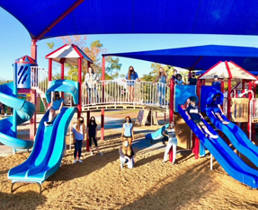 children at a playground