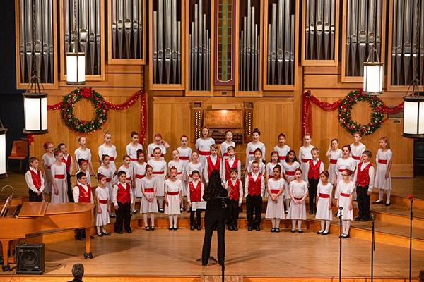 Choir performing a song