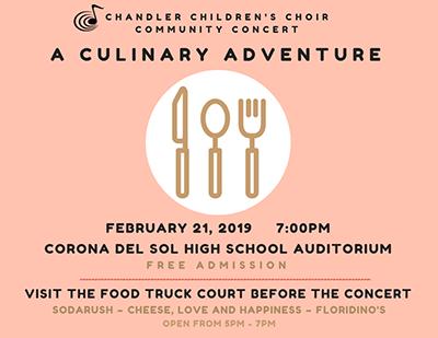 A Culinary Adventure February 21, 2019 7:00pm