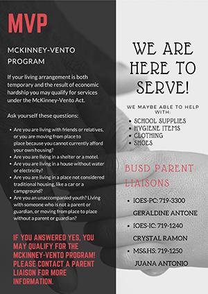McKinney Vento Program Flyer