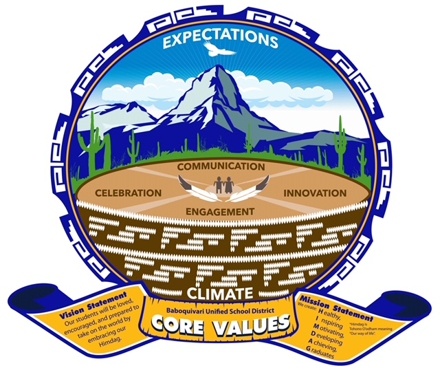 Baboquivari USD Core Values Crest