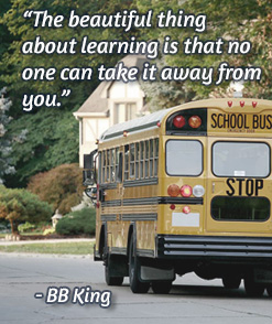 bus and quote