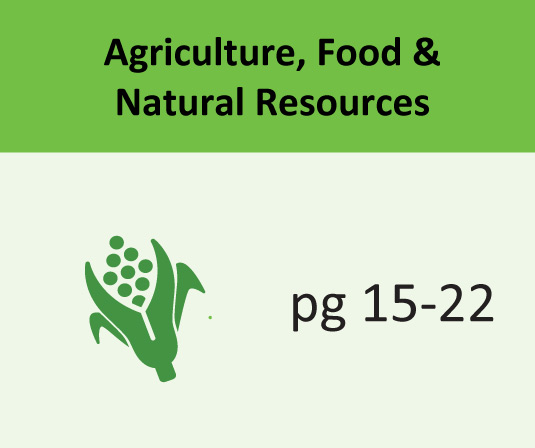 Agriculture, Food & Natural Resources pages 15-22
