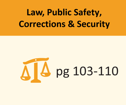 Law, Public Safety, Corrections & Security pages 103-110