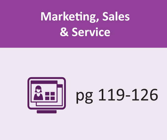Marketing, Sales & Services pages 119-126