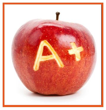 A+ apple