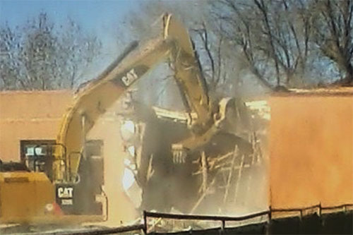 Administration Building Coming Down