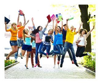 Students Jumping