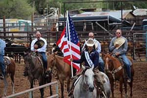 McKenzie Nunez riding a horse as the 2019 Lincoln County Fair Queen
