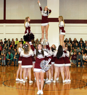 Ridgway Cheer Students