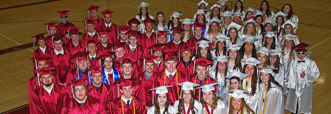 Class of 2019 in their cap and gown