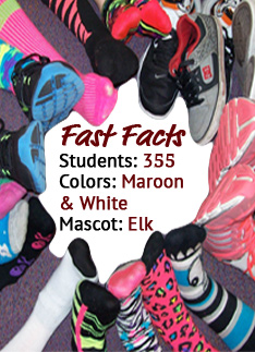 Fast Facts Students: 355; Colors: Maroon and White; Mascot: Elk
