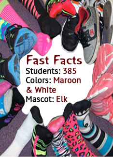 Fast Facts Students: 369; Colors: Maroon and White; Mascot: Elk