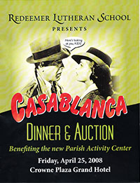 Casablanca RLS Gala 2008 poster