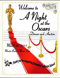 A Night at the Oscars RLS Gala 2011 poster