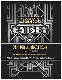 The Great Gatsby RLS Gala 2013 poster