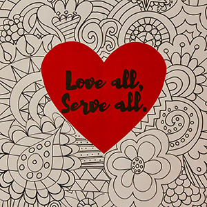 Love all, Serve all.