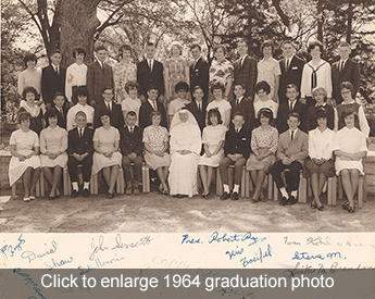Click to enlarge 1964 graduation class photo