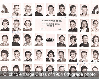 Click to enlarge Class of 1964 6th grade photo