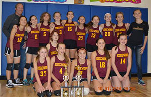 Girls Volleyball Teams Tie for Championship