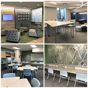 New middle school classrooms, media center, testing room and student lounge