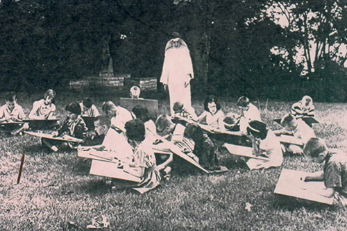 Class on the Lawn (1950's)