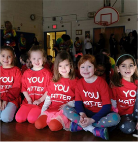 Students wearing t-shirts that read YOU MATTER