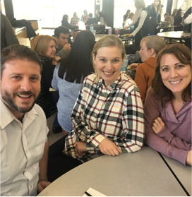 VP Psychologist sitting at a table with third and fourth grade teachers