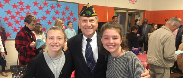 Students with a Veteran at school