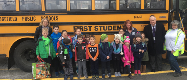 Superintendent rides the bus to FES with students