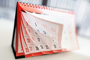 Flipped calendar pages