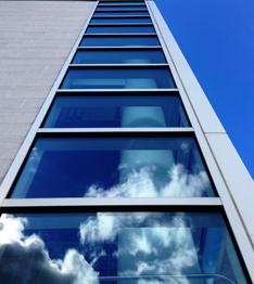 Reflective school windows