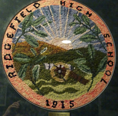 Ridgefield High School 1915 cross stitch