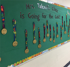 Going for the Gold display board